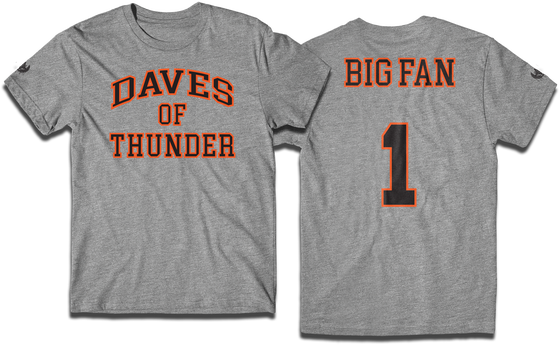 "Image of Daves of Thunder ""Big Fan"" tee"