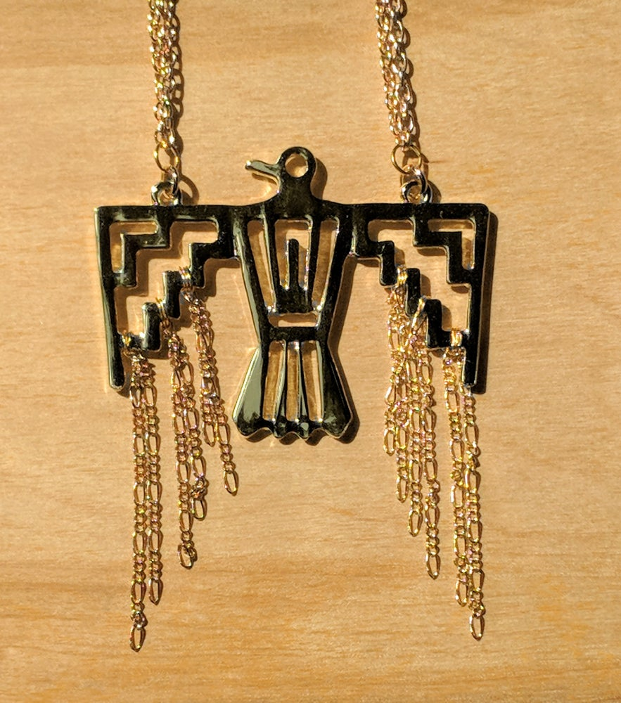 Image of Golden Sun Falcon Necklace
