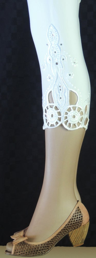 Image of White capris Richelieu FW6023W