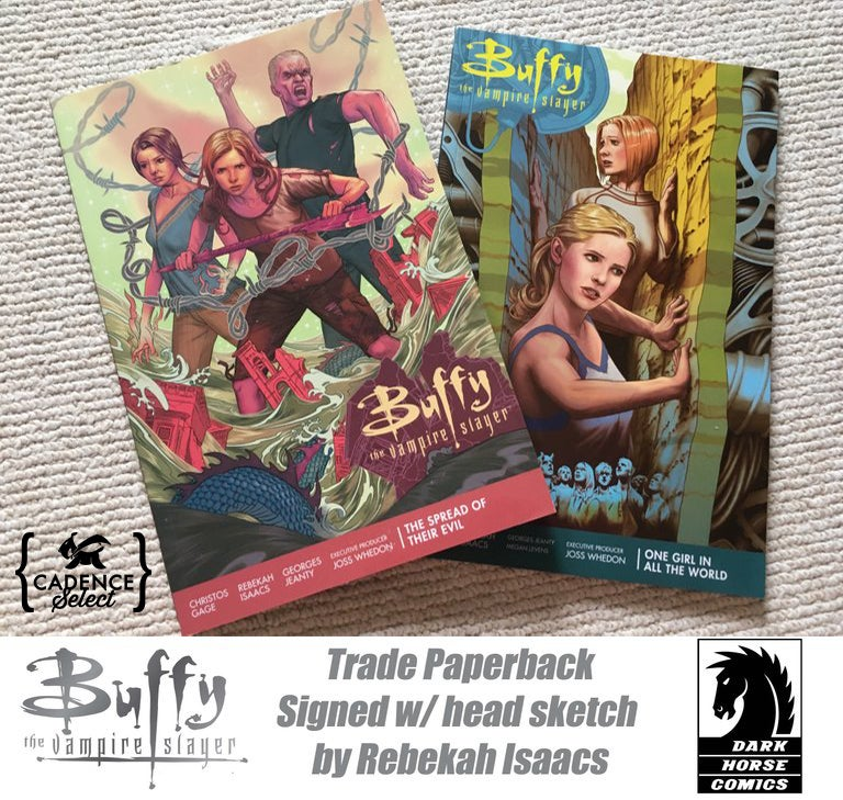 Image of Buffy The Vampire Slayer Season 11 vol. 1 and 2 TPB Set Signed by Artist Rebekah Isaacs w/ Sketch