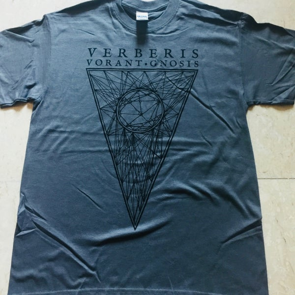 "Image of VERBERIS ""Vorant Gnosis"" Charcoal T-Shirt"