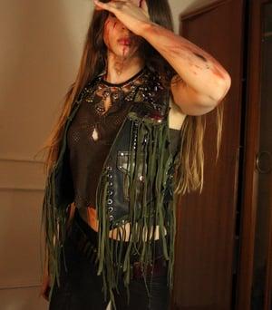 Image of GUERILLA STUDDED FRINGED PENTAGRAM VEST