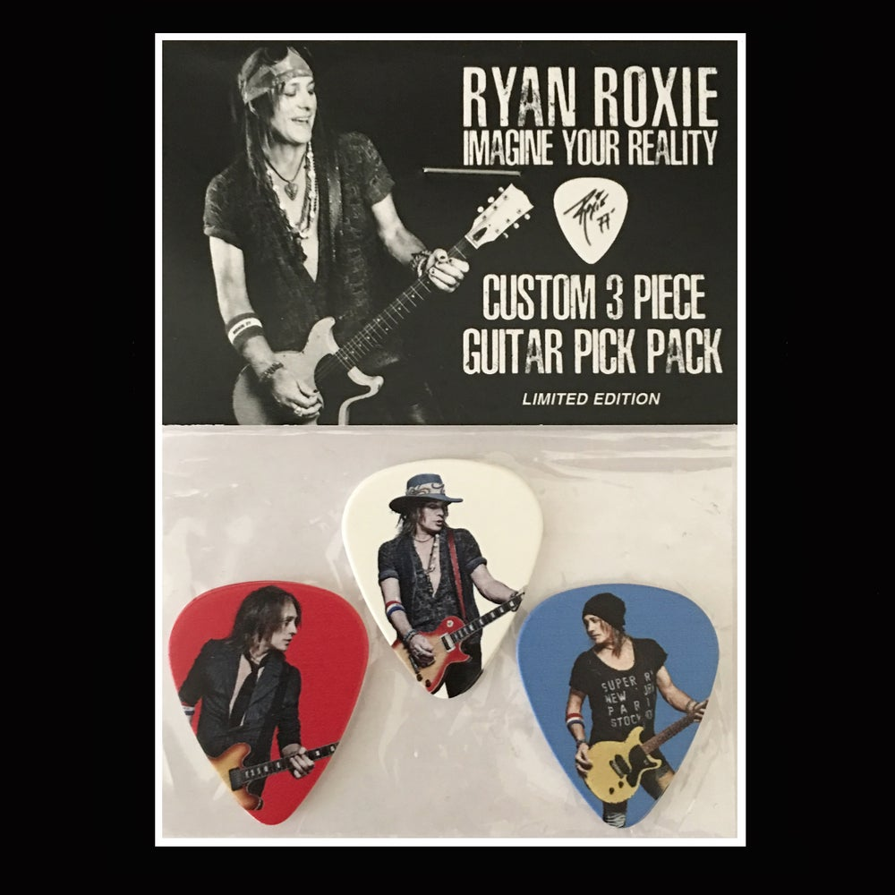 Image of Ryan Roxie - Imagine Your Reality 3 Piece Guitar Pick Pack