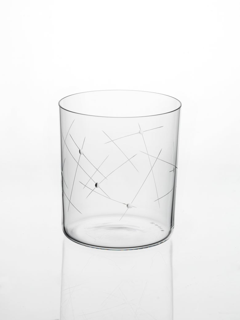 Image of Neo Glass VII-III-II Engraved. Lines & Dots