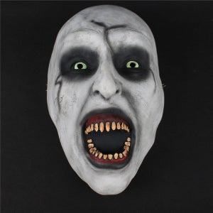 Image of 2018 The Nun Cosplay Horror Movie Mask Valak Conjuring Half Mask