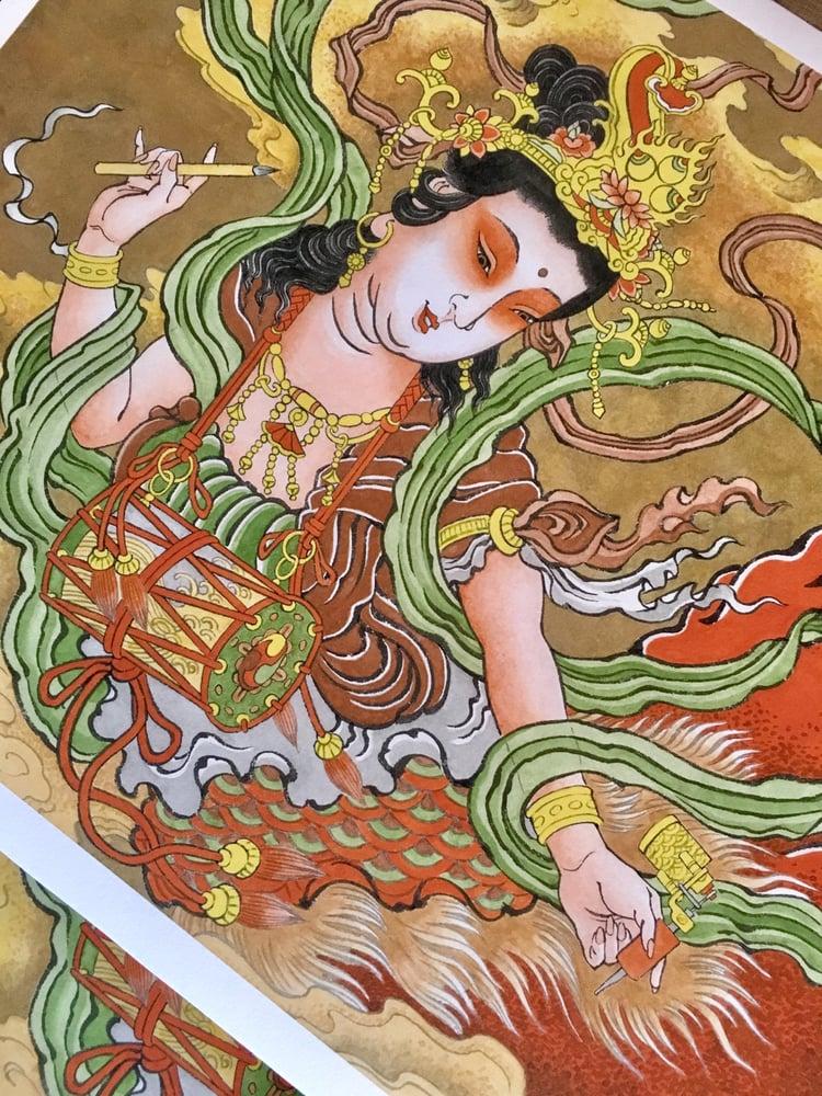 Image of Tennyo print by yutaro