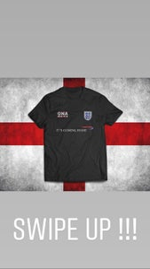 Image of OnaMadOne x Its Coming Home England Squad Tee BLACK
