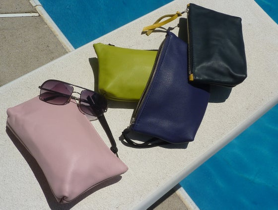 Image of lambskin pouches