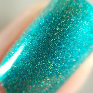 Image of Little Brother - green holo with turquoise metallic flakies