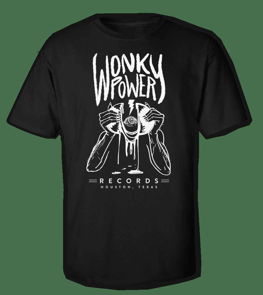 Image of Bone on Black Wonky Tee