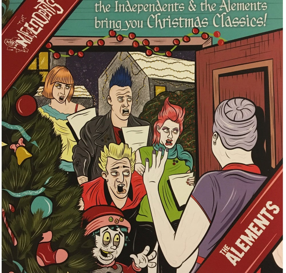 "Image of THE INDEPENDENTS AND THE ALEMENTS SPLIT 7"" ""CHRISTMAS CLASSICS"""