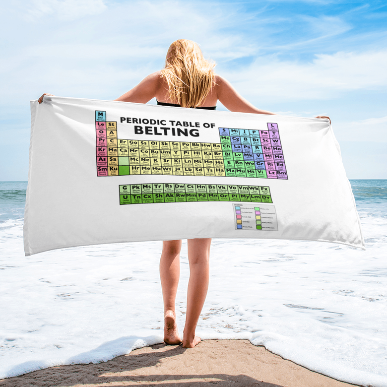 Image of Periodic Table of Belting Beach Towel