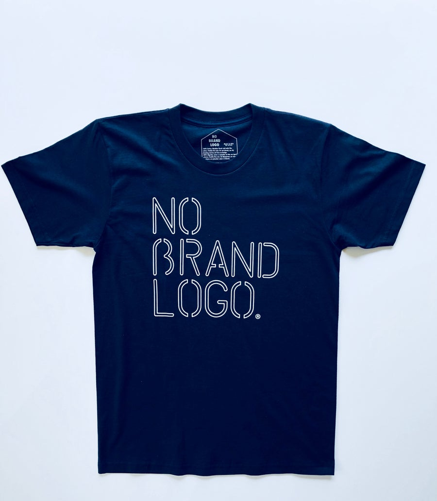 Image of Men's No Brand Logo Navy Tee