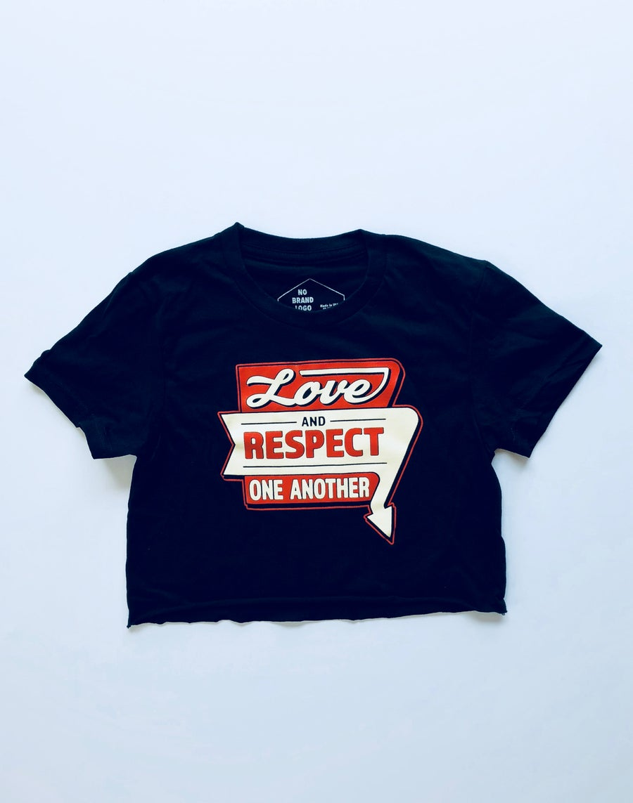 Image of Love & Respect crop top tee