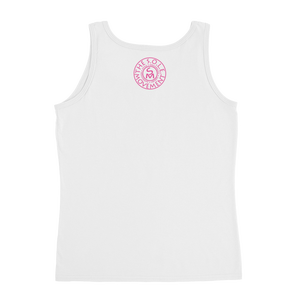 Image of Pink Ribbon Breast Cancer Tank in Black, Grey, or White