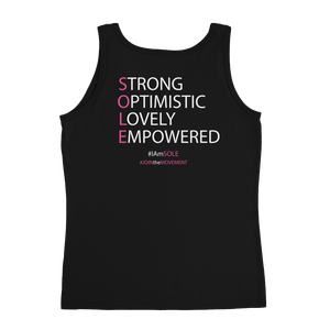 Image of I Will Not Be Stopped Breast Cancer Tank in Black or Grey