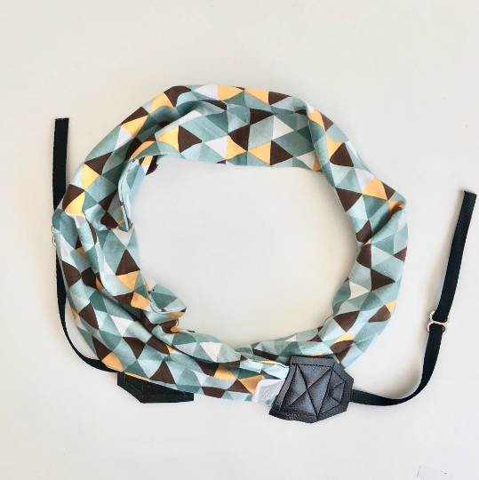 Image of Cute Scarf Cross Body Camera Strap For Women Soft Knit Designer Fabric | Sea Breeze Teal
