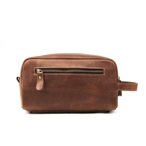 Image of Groomsmen Gift, Groomsman Gift, Personalized Leather Toiletry Bag, Dopp Kit, Best Man Gift 2025