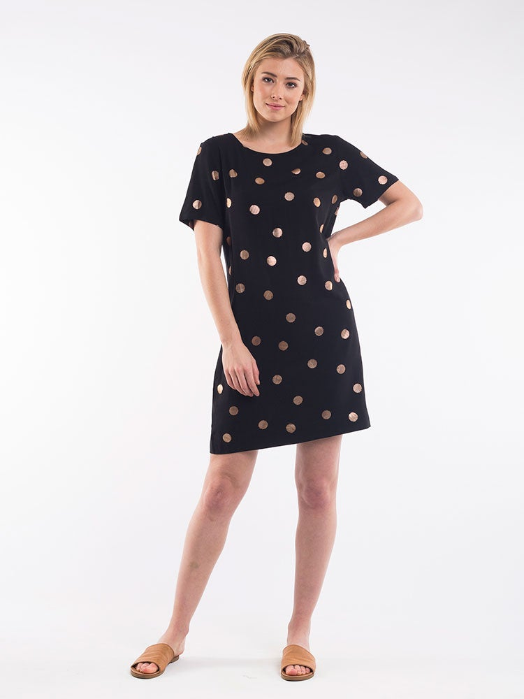 Image of ELM Spot S/S Dress / Black