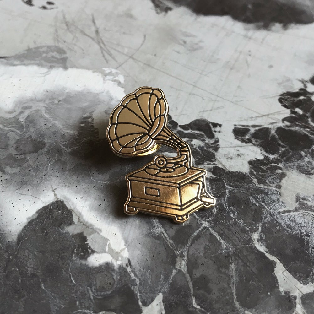 Image of Gramophone Lapel Pin