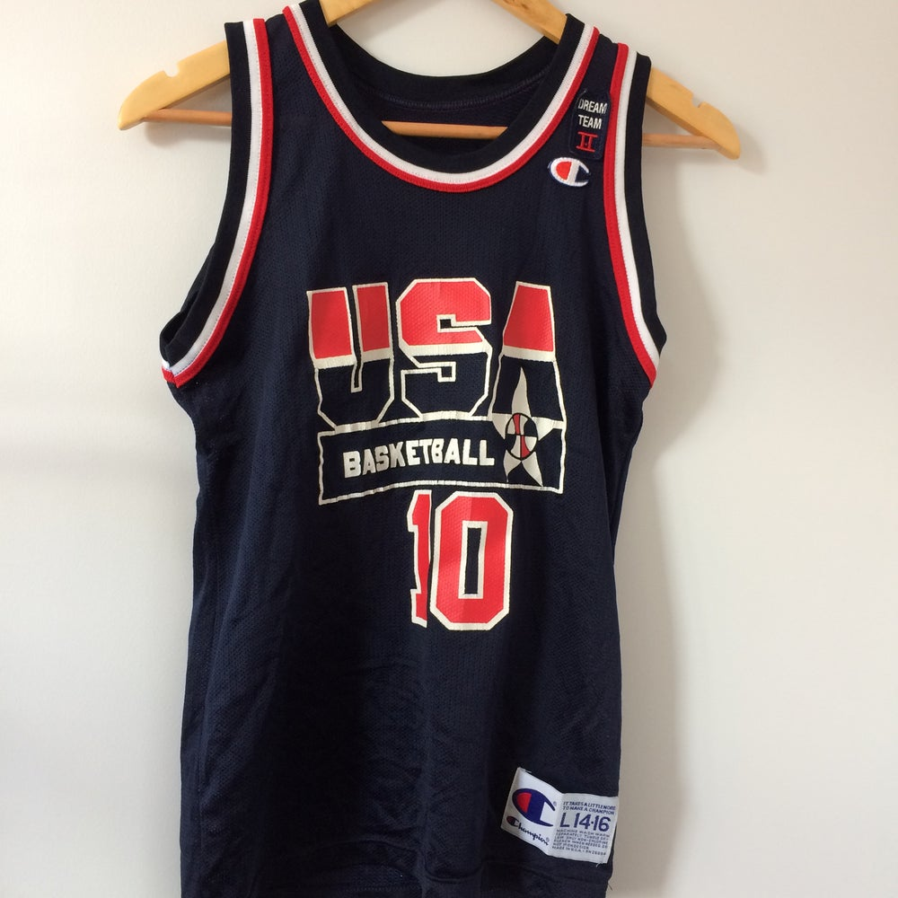 Image of Vintage Champion Reggie Miller Dream Team 2 Jersey Youth Large
