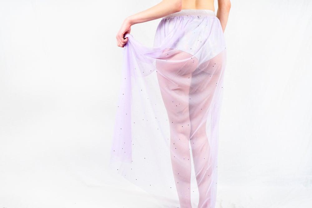 350407b4b077a Iridescent open front maxi skirt   Bolli Bears by Bolli Imports