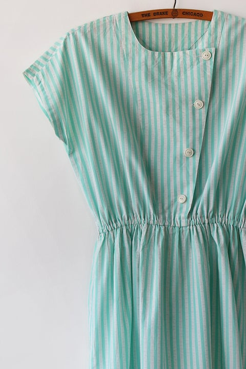 Image of SOLD Happy Stripes Button Up Dress