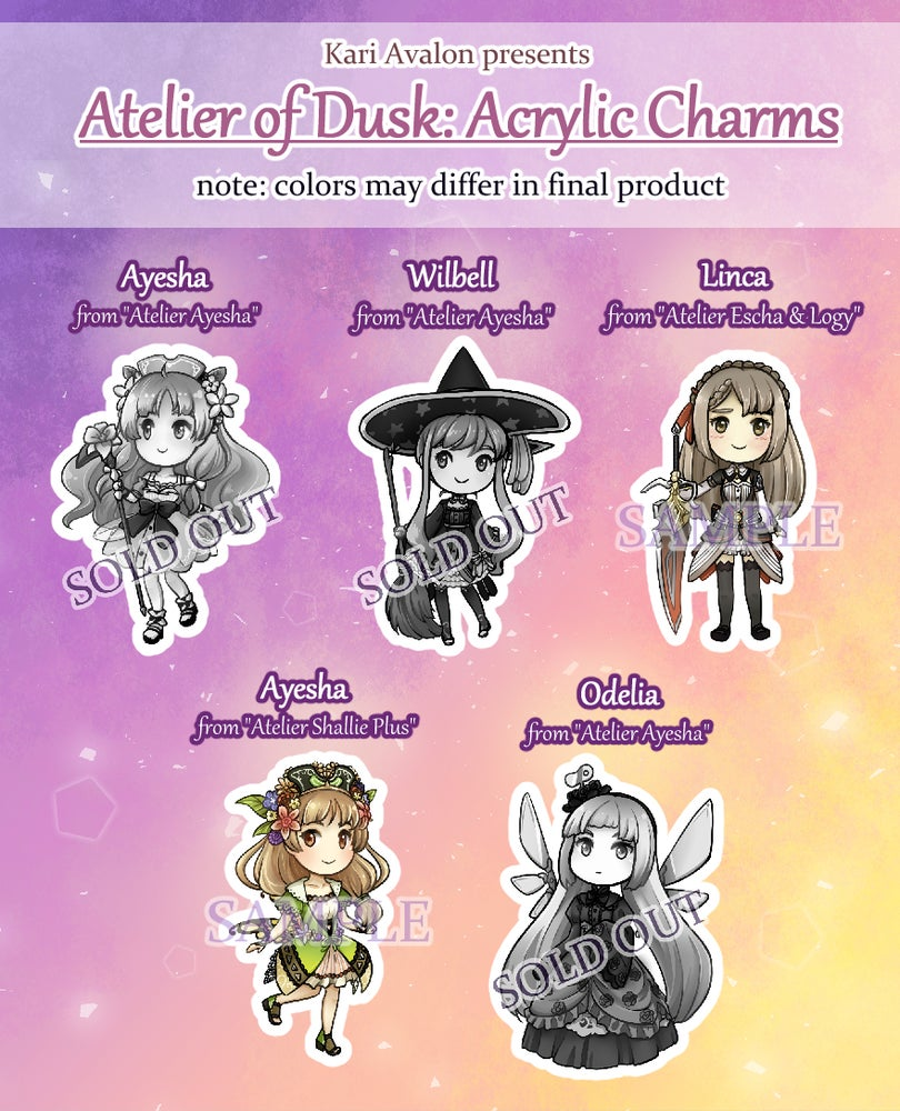 Image of Atelier of Dusk Series Acrylic Charms [Ayesha and Linca left!]