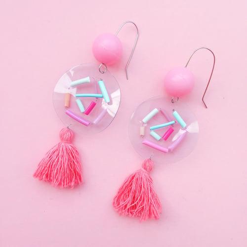 Image of Confetti bubble tassels