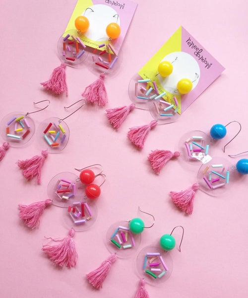 Image of Confetti bubble tassels