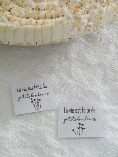 Image of Etiquette autocollante 'La vie est faite ... ' (ETKLVPB)