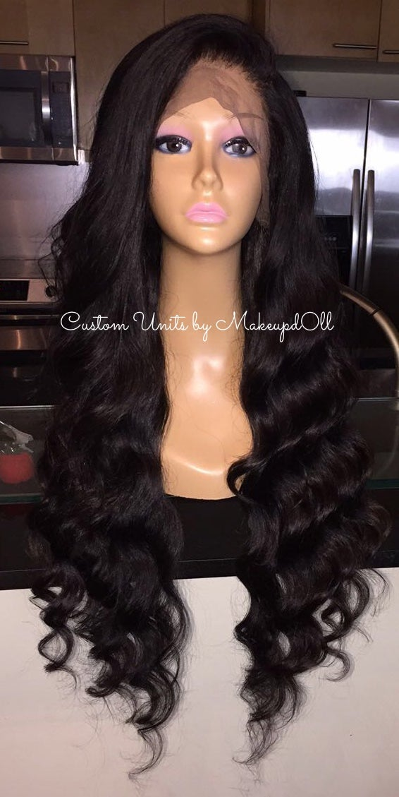 "Image of Indian Natural Wave 28"" Custom Lace Front Wig!"