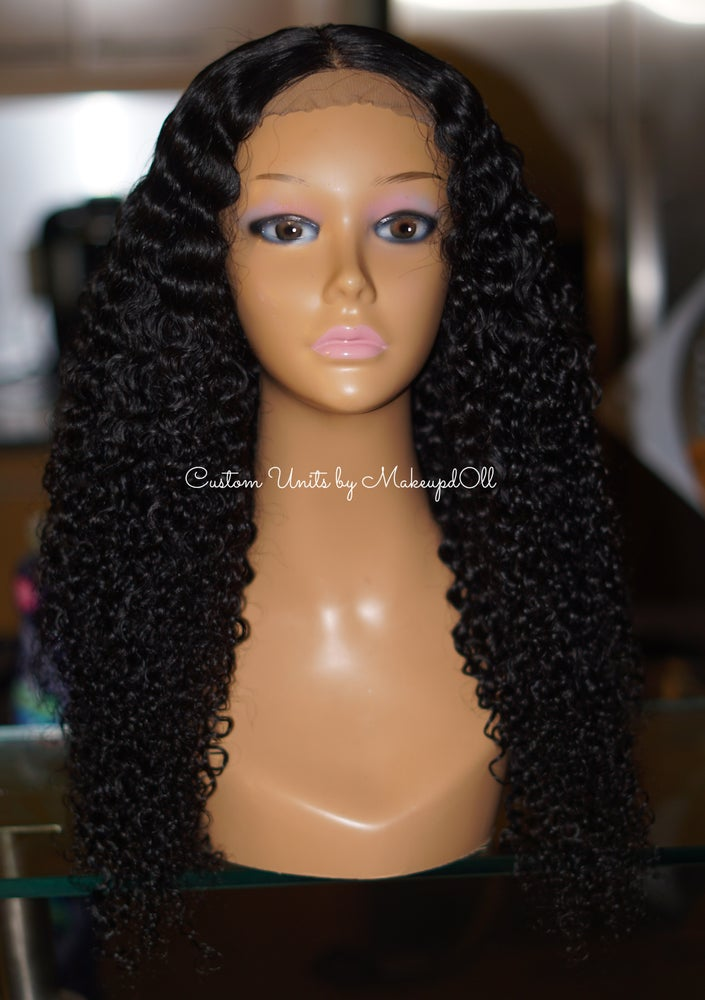 "Image of Brazilian Curly 24"" Custom Lace Closure Wig!"