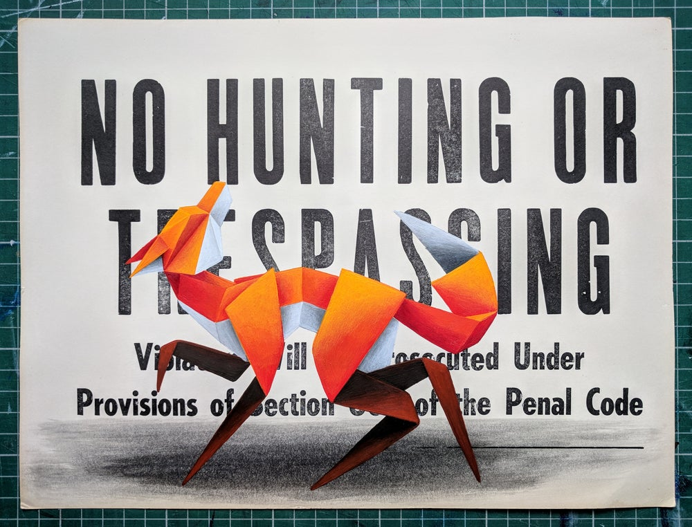 Image of 'No Hunting #7' original painting