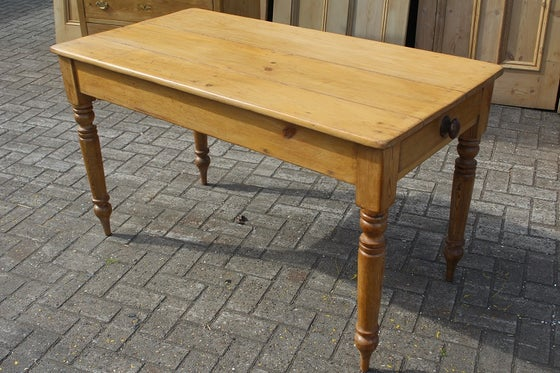 Image of VICTORIAN FARMHOUSE KITCHEN TABLE WITH TWO DRAWERS