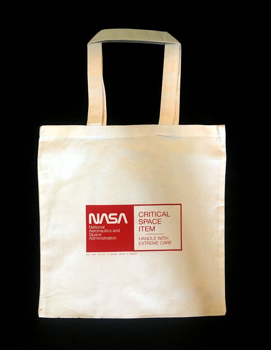 Image of Critical space item tote bag