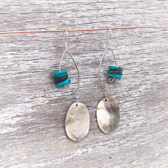 Image of Fish Lure Inspired Turquoise and Abalone