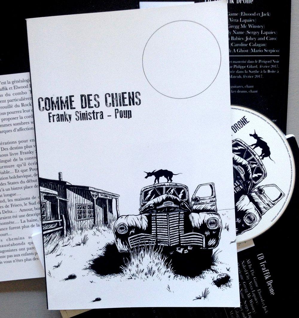 """Franky Sinistra & Poup """"Comme des Chiens"""" Livre + CD"""