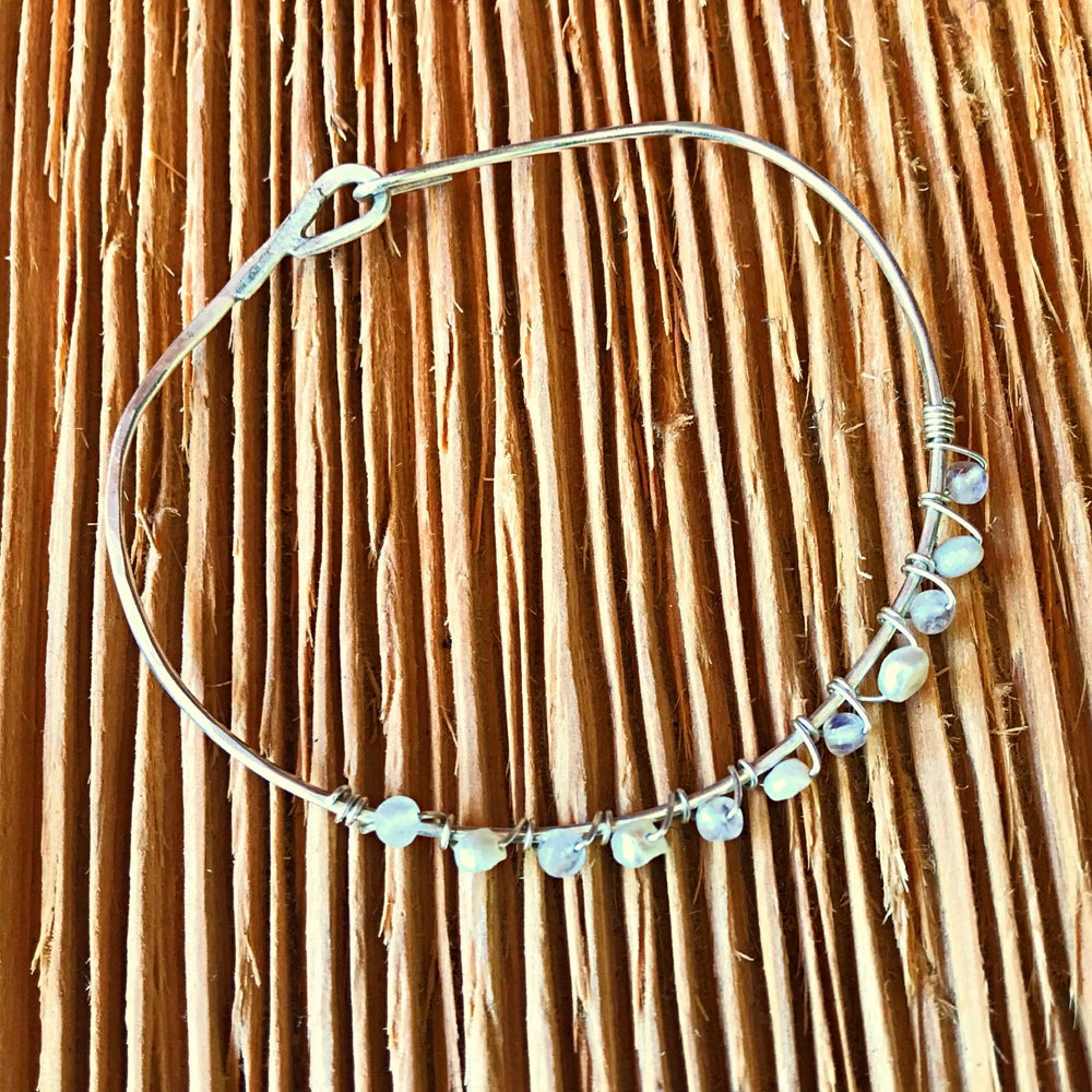 Image of Hand Soldered Rainbow Moonstone Bracelet