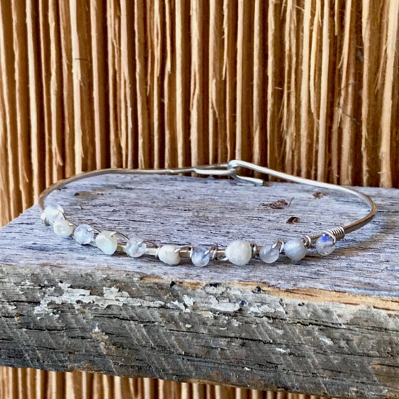 Image of Hand Soldered Rainbow Moonstone Bracelet