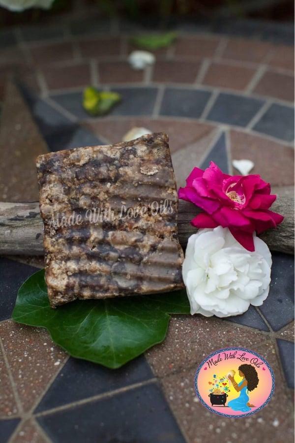 Image of Traditional Ancestral Black Soap Block 27-36 oz