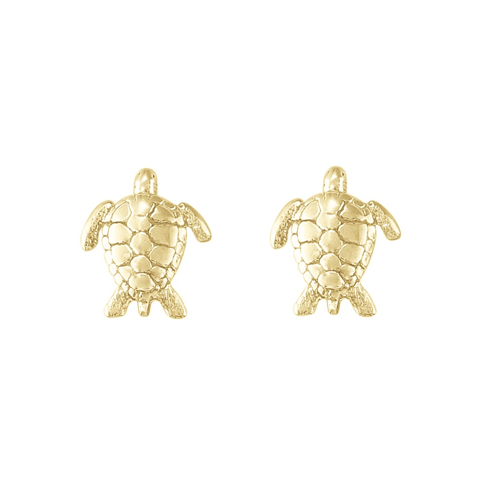 Image of Sea Turtle Stud Earrings in Gold