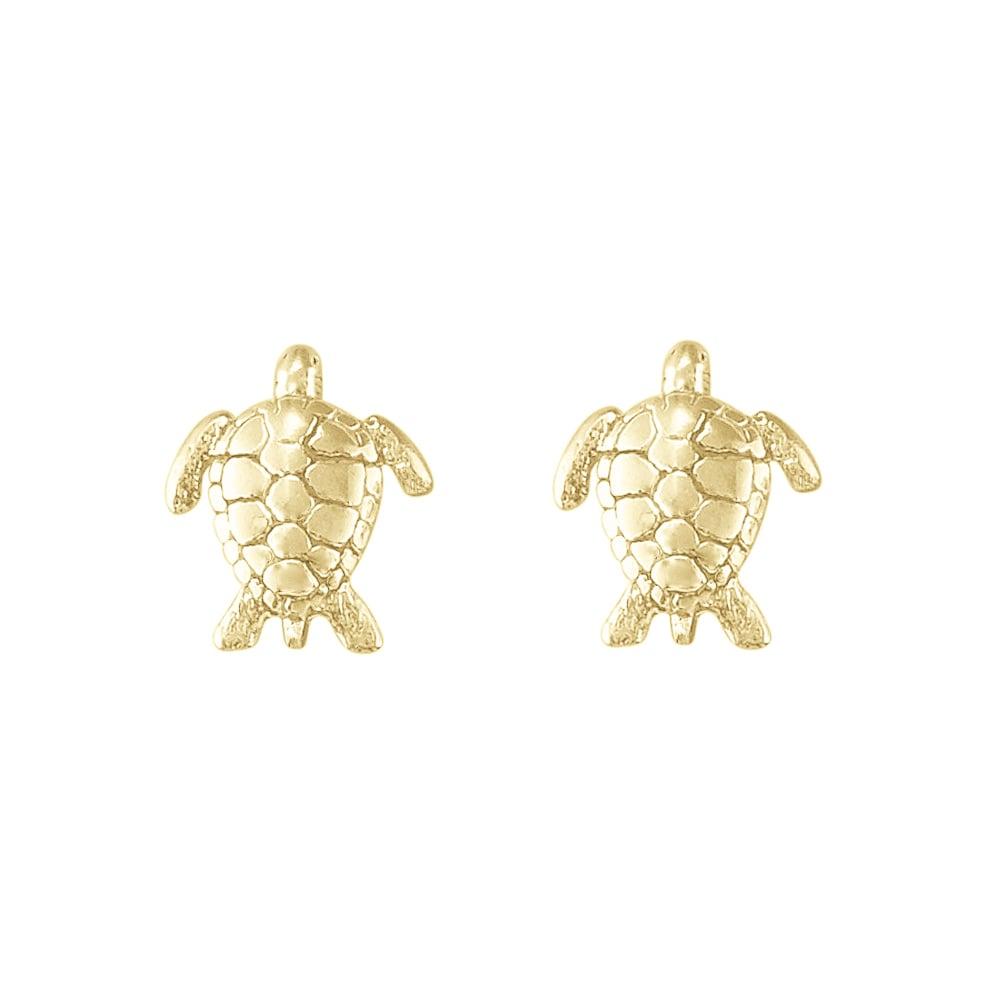 Image of Sea Turtle Stud Earrings in Gold