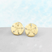 Image of Sand Dollar Stud Earrings in Gold