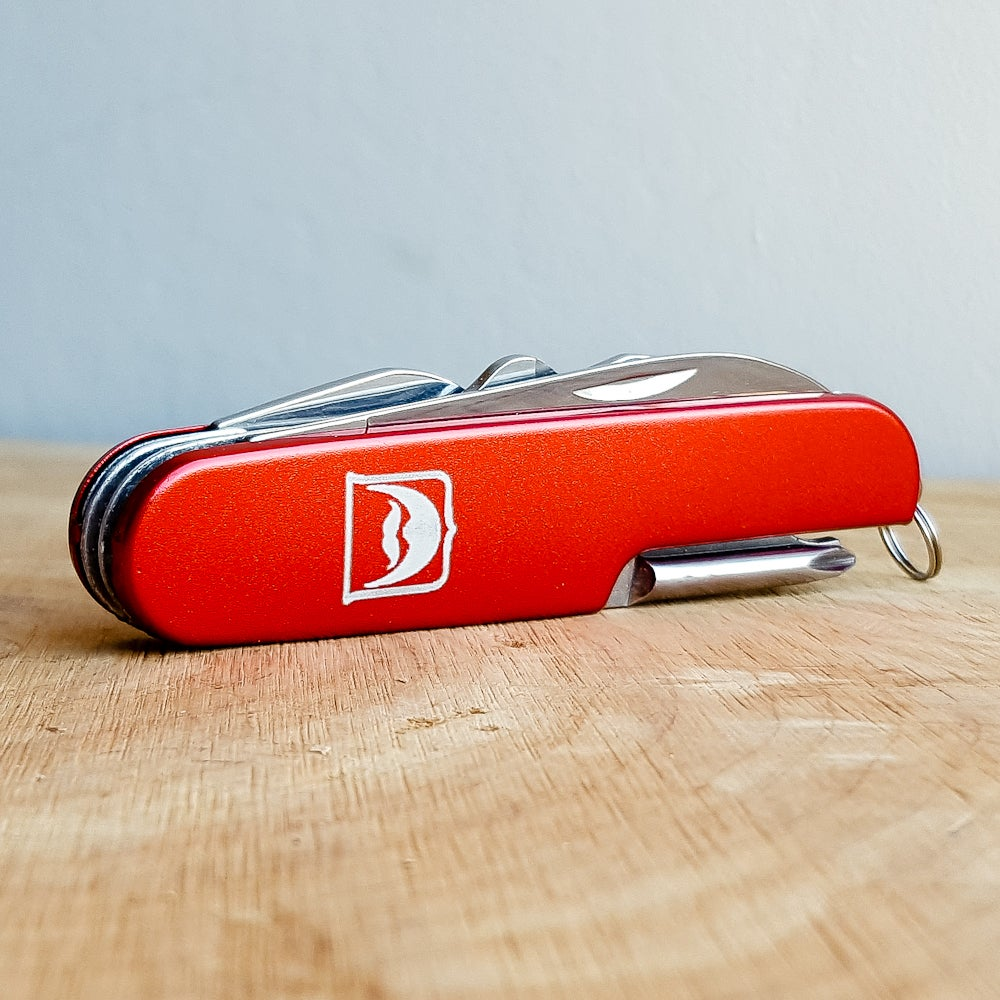 Image of Personalized Red Pocket Army Knife and Multi-Tool Key Chain