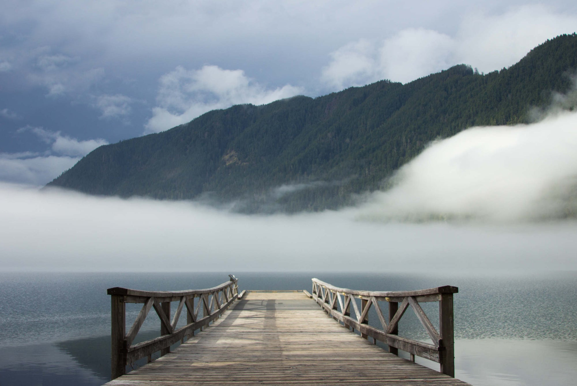 Image of LAKE CRESCENT DREAMSCAPE BRIDGE