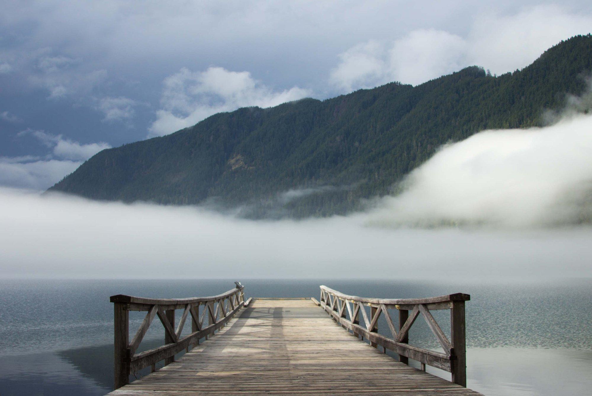 Image of LAKE CRESCENT DREAMSCAPE BRIDGE