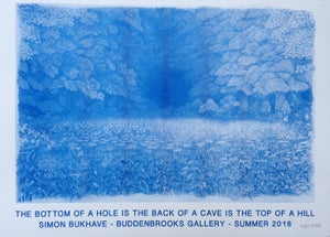 Image of Risograph art print  - The Bottom of a Hole is the Back of a Cave is the Top of a Hill - Poster 2