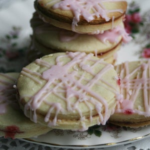 Image of Raspberry Dream Sandwich Cookies - ONE DOZEN