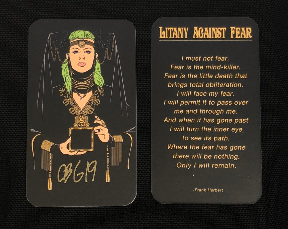 Image of CBG19 Signed Litany Against Fear Prayer Card